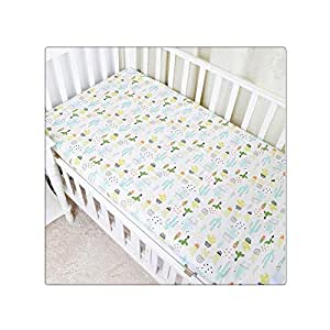 Baby Bed Sheet Crib Sheet Cartoon Animal ... - Amazon.com