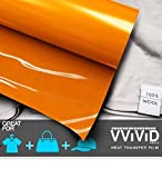 VViViD Orange Heavy-Duty Iron-on Heat Transfer Vinyl Film (12'' x 150ft Bulk Roll)
