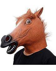 CreepyParty Paardenmasker Latex Realistisch Dier Volledig hoofdmasker voor Halloween Kostuum feest Carnaval Cosplay