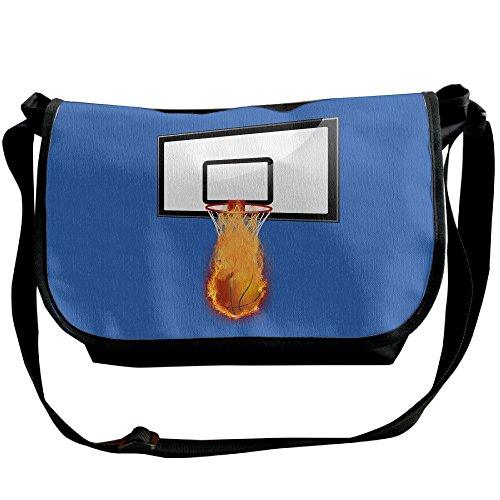 Basketball Fire Basketball Lover Gift Unisex Casual Messenger School Adjustable Shoulder Tote Bag Travel Crossbody Bag Wide Diagonal Bag Single Shoulder Bag