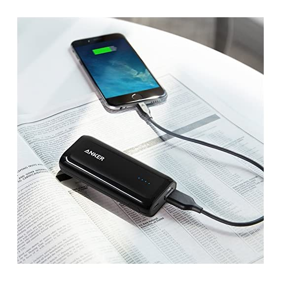 Anker Astro E1 5200mAh Candy bar-Sized Ultra Compact Portable Charger (External Battery Power Bank) with High-Speed Charging PowerIQ Technology 7
