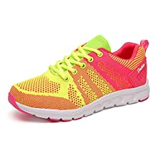 Women's Running Sneakers Lightweight Breathable Tennis Shoes Lace Up Athletic Fashion Sneakers