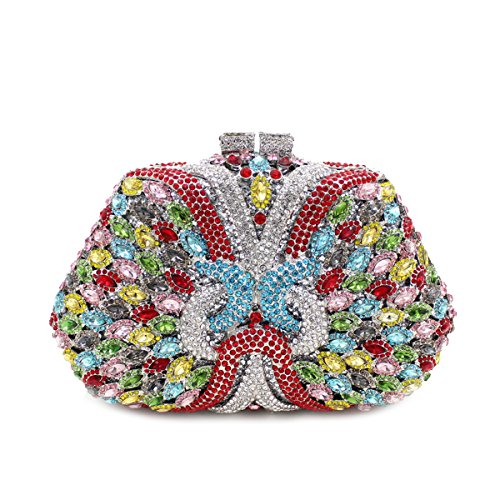 Flada Girl's and Ladies Luxury Handbag Evening Clutch Bag Rhinestones Clutch Purse for Prom Wedding #2 by Flada