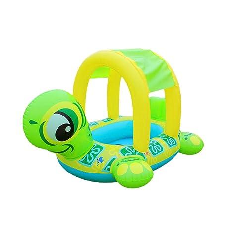 Inflable anillo de natación, vanvler nuevo parasol bebé tortuga bebé flotador asiento coche Flamingo barco