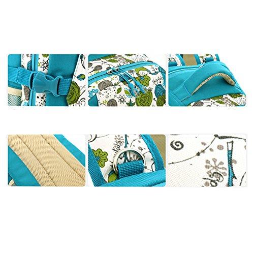 Multifunción Cojín del Pañal del Bebé Bolso Cambiador de Pañales Mochila Momia Bolso (caqui) azul