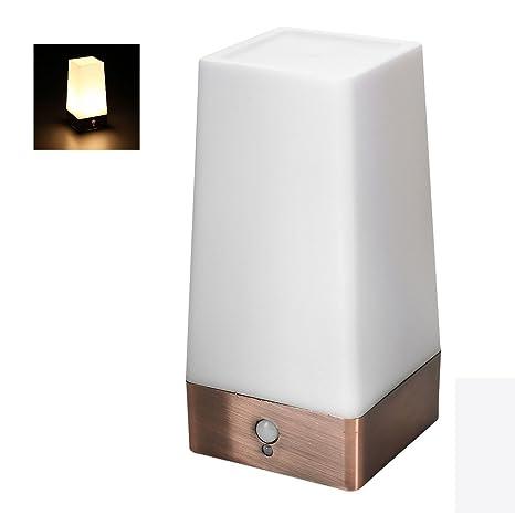 Comficent Lámpara de Mesa LED Iluminación sin Cable Sensor de Movimiento, Luz de Noche Seguridad