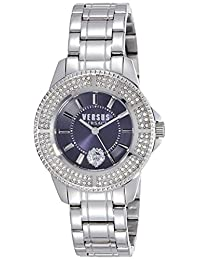 Versus by Versace Women's SH7220015 Tokyo Crystal Analog Display Quartz Silver Watch