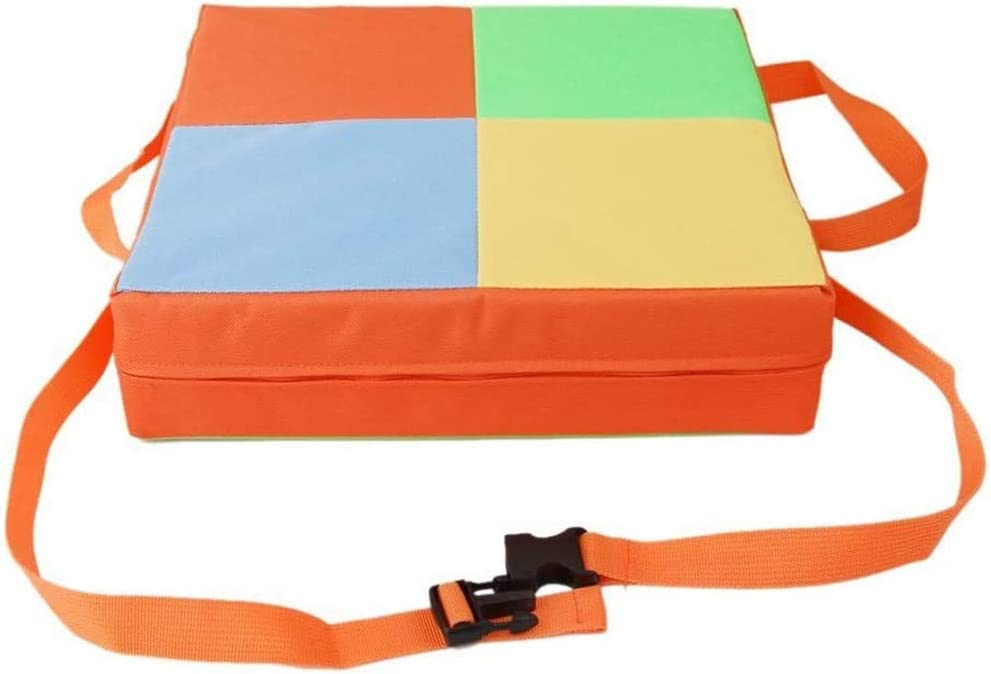 QMYS Coussin Rehausseur Chaise pour Enfant Coussin de Chaise Haute D/éhoussable et Pratique /à Nettoyer pour Repas Nourriture B/éb/é Bambin Enfant Orange
