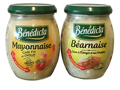 Gourmet Sauces Bundle with French Benedicta Béarnaise and Benedicta Mayonnaise and Recipe Card PDF, 3 items
