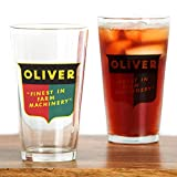 CafePress Oliver Tractor Pint Glass, 16 oz. Drinking Glass