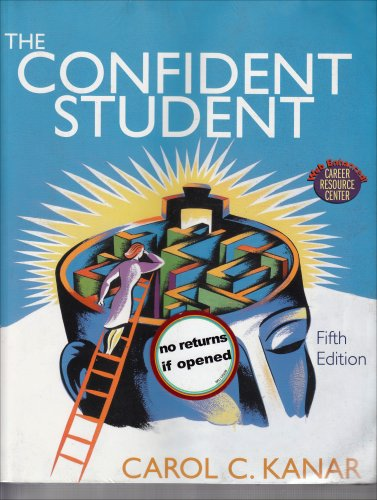 Confident Student 5th Edition Plus Becoming A Master Student Concise Portfolio Webcard 11th Edition