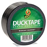 Colored Duct Tape, 1.88'''' x 20yds, 3'''' Core, Black, Sold as 1 Roll
