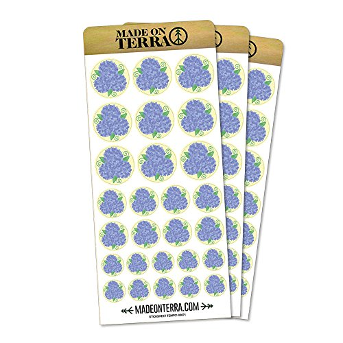 (Hydrangea Flower Garden Trio Removable Matte Sticker Sheets Set)