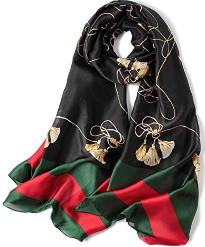 - FM Womens Mulberry Silk Scarves Long Satin Lightweight Scarf For Women