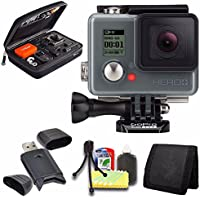 GoPro HERO+ LCD + Case for GoPro HERO4 and GoPro Accessories + 6pc Starter Kit Bundle