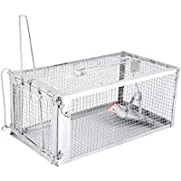 Rat and Squirrel Cage Trap (Humane, Easy to Bait and Set, Long-Lasting Galvanised Mesh) GOLDEN STAR Rat Mouse Cage Trap…