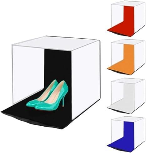 SY&R Portátil Estudio fotográfico Caja de Luz Foldable 40x40cm con ...