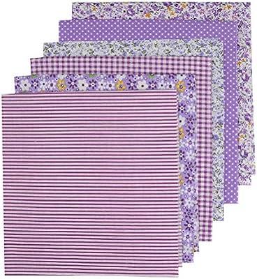 DODUOS 6 pcs 50 x 50cm Tela de Algodón Patchwork Tela de Flores de Costura de Manualidades Retales violada Tela de Bricolaje para DIY Coser Bricolaje: Amazon.es: Hogar
