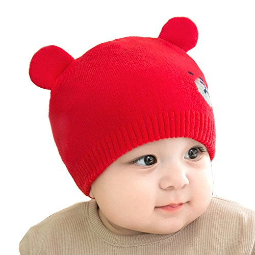 Sunscreen Baby Costume (Reian Unisex Infant Baby Knit Cotton Hat Soft Warm Beanies Cap (Red))