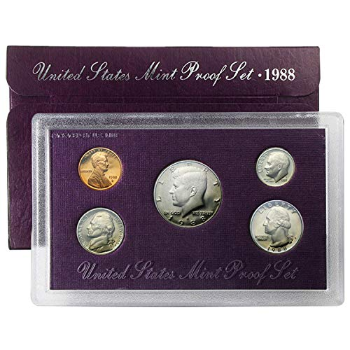 1988 Various Mint Marks Proof Set Uncirculated Coin - Mint 1988