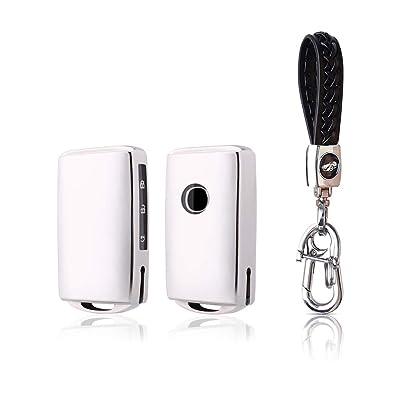 BOYUER Keyless Remote Control Smart Car Key Fob Cover Soft TPU Key Fob Case Key Chain For Mazda MAZDA3 2020 2020 CX-30 2020 2020 CX-5 2020 CX-8 2020 (SLIVER): Automotive