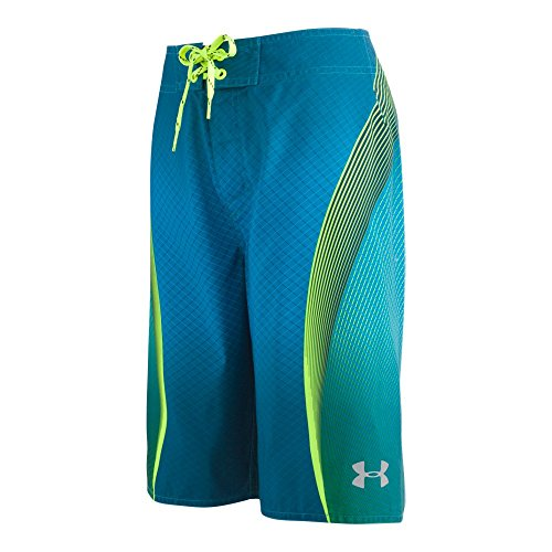 Under Armour Boys' Big Boardshort, Blue/Green, 10 by Under Armour