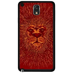 Red King of the Sun Lion Face Hard Snap on Phone Case (Note 3 III)