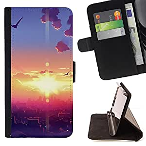 DEVIL CASE - FOR Sony Xperia Z1 Compact D5503 - Sunset Beautiful Nature 108 - Style PU Leather Case Wallet Flip Stand Flap Closure Cover