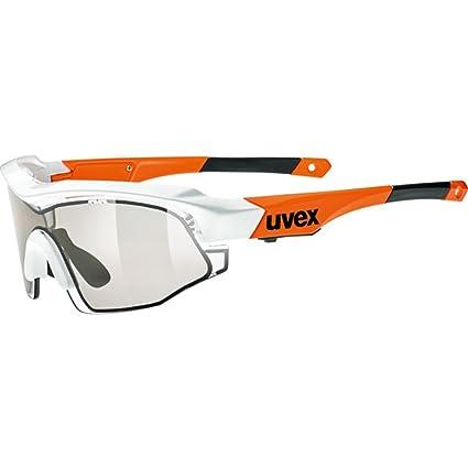 55bd87453b2 Uvex Variotronic Shield Sunglasses White Orange