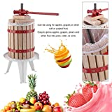 Belovedkai 1.6 Gallon Solid Wood Basket Fruit Wine Press Cider Apple Grape Crusher Juice Maker Tool