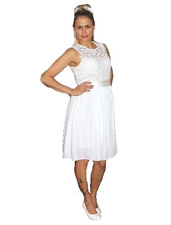 Brautkleid Spitze kurz Hochzeitskleid S M L XL XXL XXXL XXXXL Braut ...