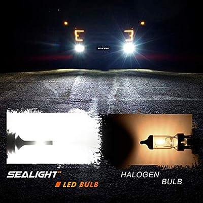 SEALIGHT H11 LED Fog Lights H8 H16 LED Fog Bulbs Lamps High Power 12 CSP Led Chips 6000K White: Automotive