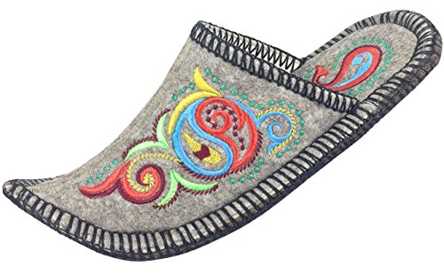 Handmade Women's Boiled Wool House Slipper, Natural Felt, Bright Soft  Breathable Exclusive Indoor Shoes
