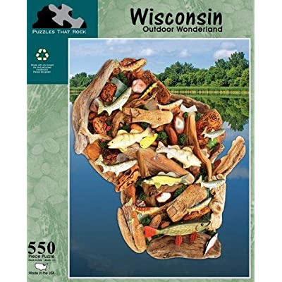 Puzzles that Rock, Wisconsin Outdoor Wonderland, 550 Piece Puzzle: Toys & Games