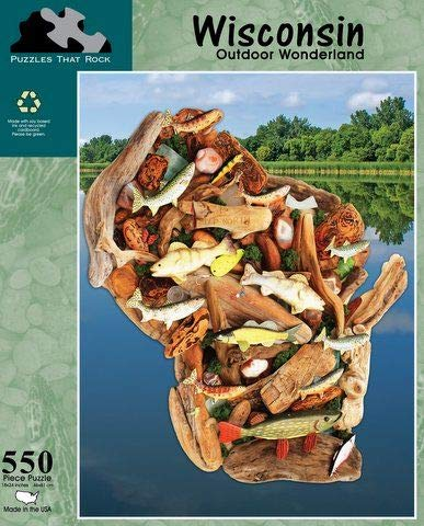 - Puzzles that Rock, Wisconsin Outdoor Wonderland, 550 Piece Puzzle