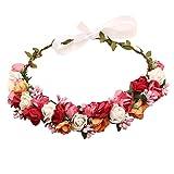 Sanjog Adjustable Wooden Stic Multicolor Floral Tiara For Girls
