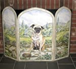 Stupell Home 3 Panel Outdoor Decorative Dog Fireplace Screen, 31 by 44 by .375-Inch by Stupell Industries