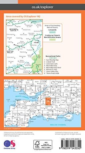Explorer Map 142: Shepton Mallet & Mendip Hills East