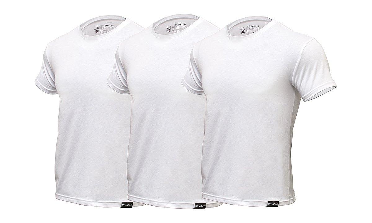 Spyder Crew Neck Mens Undershirts/Ultra Soft Pro Cotton T-Shirts