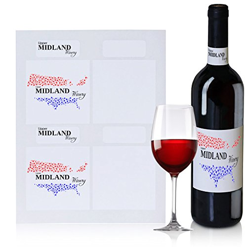 Wine Bottle Labels, 40 Blank Water Resistant Wine Labels and 40 Blank Neck Labels, Create Your Own Custom and Personalized Labels, for Wedding or Other Use