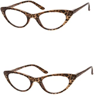 55eb55f2d529 Amazon.com  The Brit and The Ashlee Unisex Cat Eye Reading Glasses ...