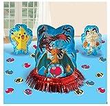 23pc Pikachu & Friends Pokemon Birthday Party Table Centerpiece Decoration Kit