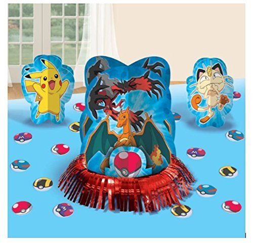 Table Party Birthday Centerpiece (23pc Pikachu & Friends Pokemon Birthday Party Table Centerpiece Decoration Kit)