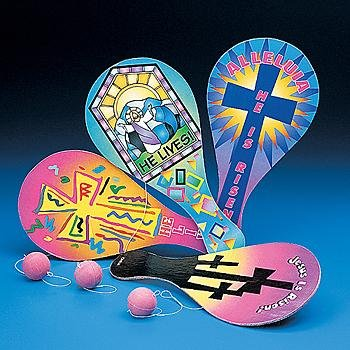 Easter Inspirational Paddleball Games - Games & Activities & Paddleball Games
