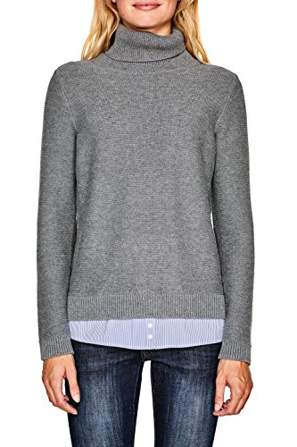 Esprit Pull Femme Gris (Grey 5 034)