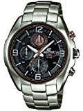 Casio EFR-529D-1A9VUEF - Reloj analógico de cuarzo para hombre con correa de acero inoxidable, color plateado