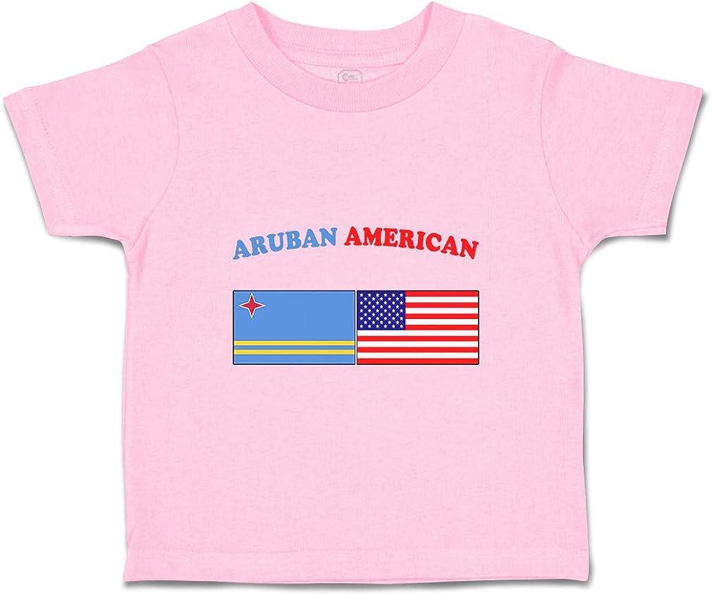 Custom Baby /& Toddler T-Shirt Aruban American Cotton Boy Girl Clothes