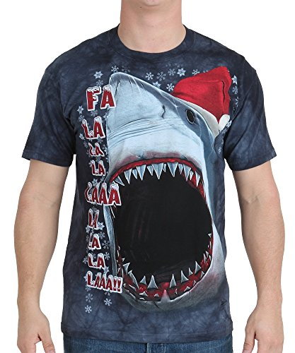 The Mountain Unisex-Adults Xmas Shark, Blue, Medium