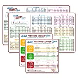 Electric Pressure Cooker Cook Times Quick Reference Guide Compatible with Instant Pot | Instapot Accessories Magnetic Cheat Sheet Magnet Set | Insta Pot Sticker and Decal Alternative (2 Sets)