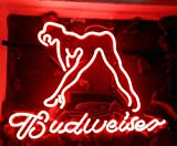 Desung New 17''x13'' B udweiser SEXY LADY GIRL Neon Sign (Multiple Sizes Available) Man Cave Signs Sports Bar Pub Beer Neon Lights Lamp Glass Neon Light CX205